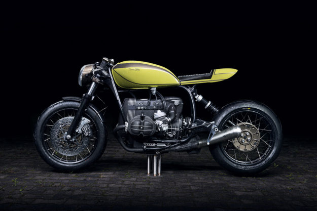 The latest release from the Munich workshop Diamond Atelier: A heavily modified BMW R100R dripping with style and immaculate details.