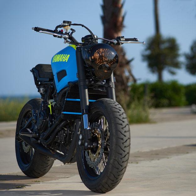 Neon Dream: This custom Yamaha XSR700 is a Retina-Searing Treat.