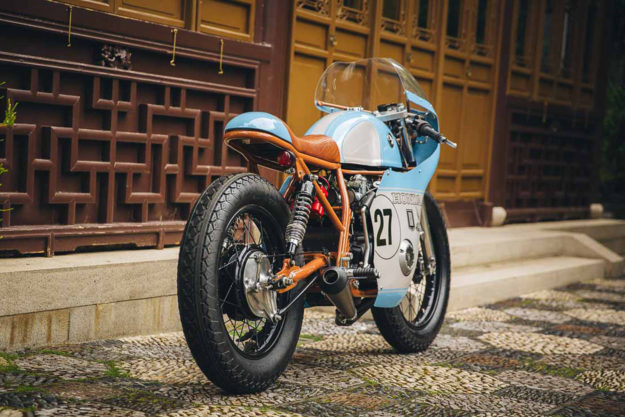 It was a long, hard road for Anthony Scott to build this Honda CB550 cafe racer racer, but the result is extraordinary.