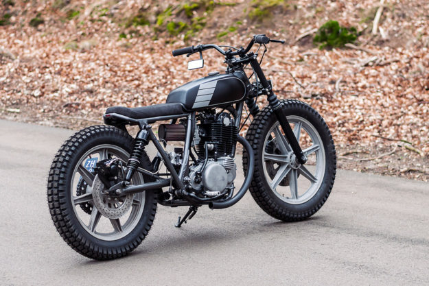 This Yamaha SR500 tracker by Pancake Customs of Holland is low key and beautifully detailed.