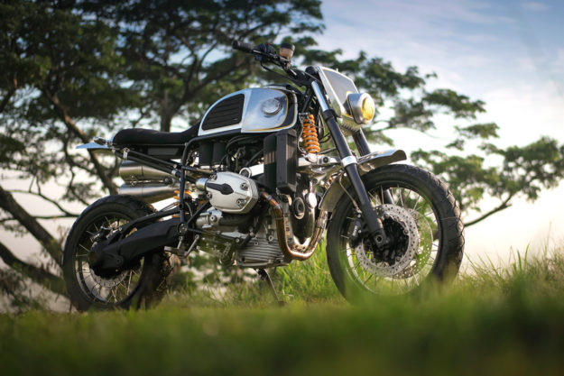 Out Of This World: This BMW GS custom from BCR Designs looks like an alien life form.