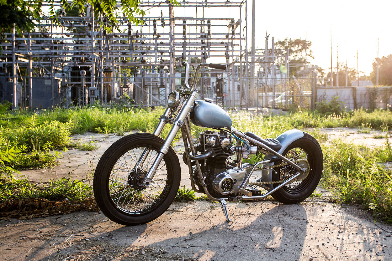 Blue Is The Color: An ice-cool Yamaha XS650 bobber   Bike EXIF