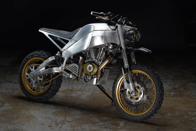 A fast and raw Buell Ulysses scrambler by Revival Cycles.