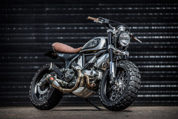 Fat tire motorcycle: A custom Ducati Scrambler from Down & Out Motorcycles