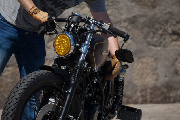 Delivering Smiles: An ex-postal service Suzuki reborn as a funky cafe racer.