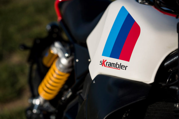 Got a BMW K100 but fancy that modern scrambler vibe? Unit Garage has a kit for you.