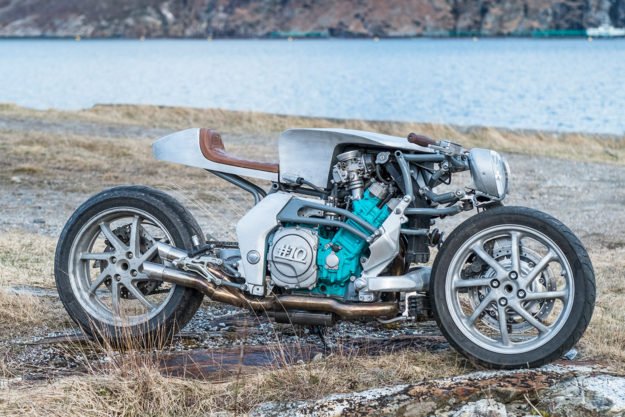 Sub Zero Cool: A custom Yamaha GTS 1000 built in a remote village in Norway's frozen north.