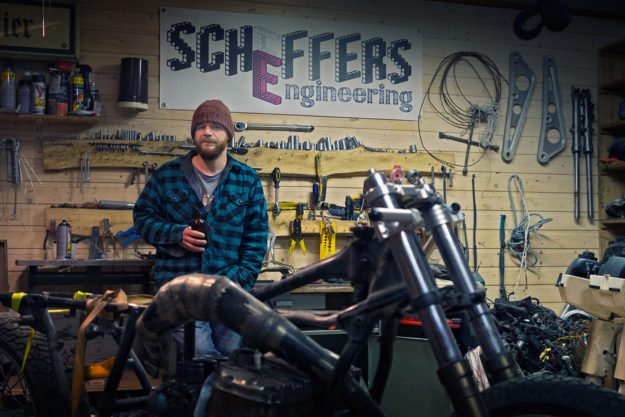 Roel Scheffers, a Dutch custom bike builder who lives near the Arctic Circle in Norway