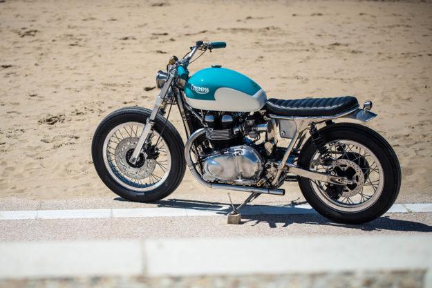 California Dreaming: A brat style Triumph Bonneville by FCR Original.