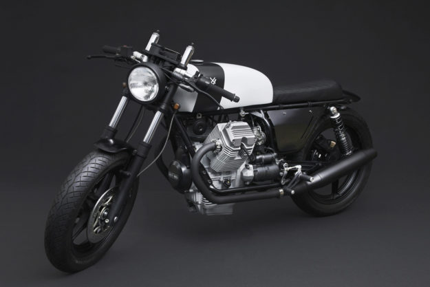 Corsaiola: A Heavily modified Moto Guzzi V75 cafe racer by Venier Customs