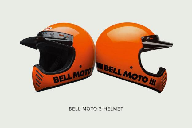 The new Bell Moto 3 helmet in orange.