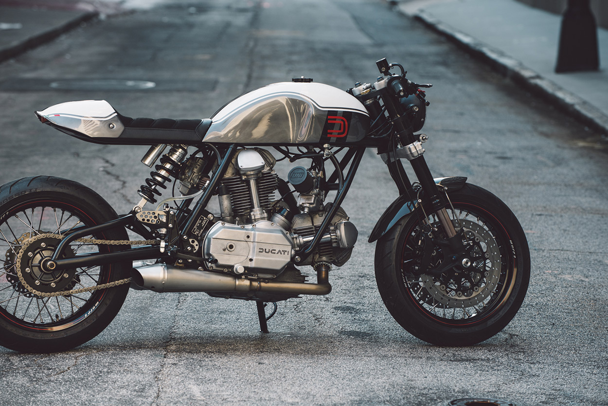 This sleek Ducati 860 cafe racer was built by Bryan Heidt of Fuller Moto in his spare time.