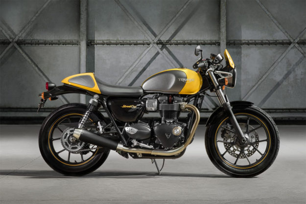 New triumph Street Cup motorcycle
