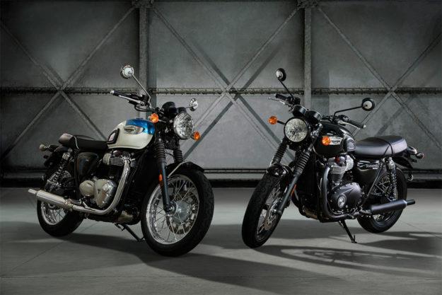 New Triumph T100 Bonneville and T100 Black