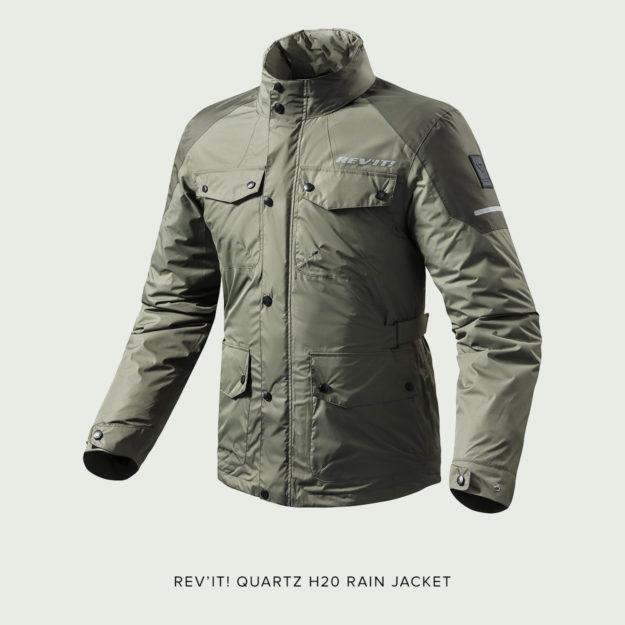 The REV'IT! Quartz H2O Rain Jacket.