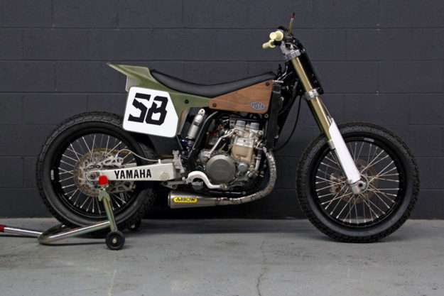 Custom Yamaha WR400F tracker by Pista Design