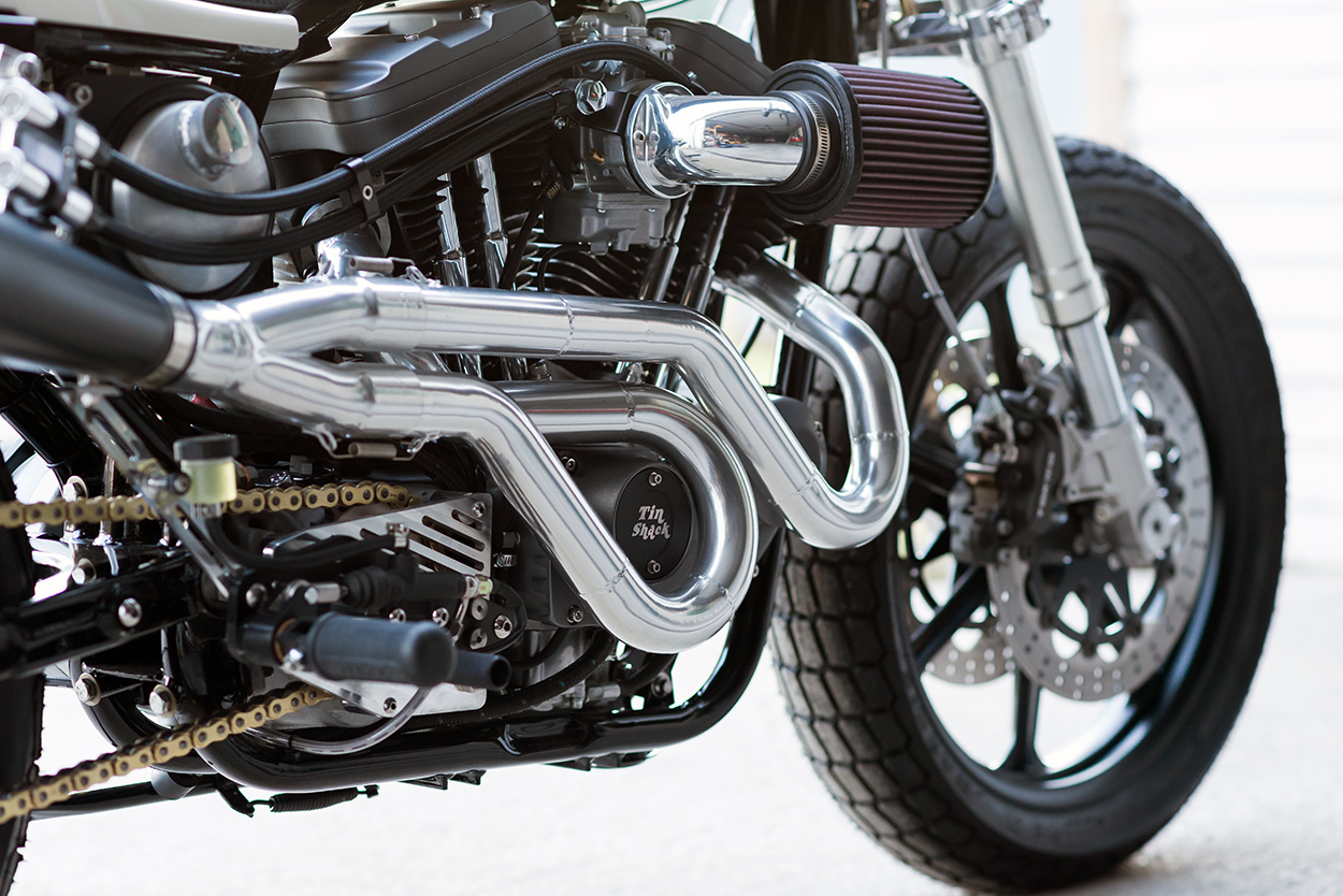 A Harley street tracker built to rip up Vermont mountains