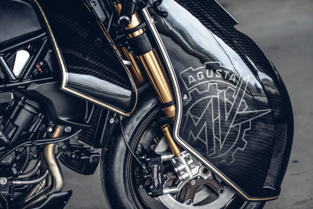 Ballistic Trident: A Custom MV Agusta Brutale 800 RR by Rough Crafts