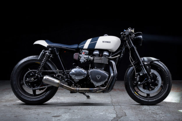 Triumph Cafe Racer >> Zero Gravity Bad Winners Lightweight Thruxton Cafe Bike Exif