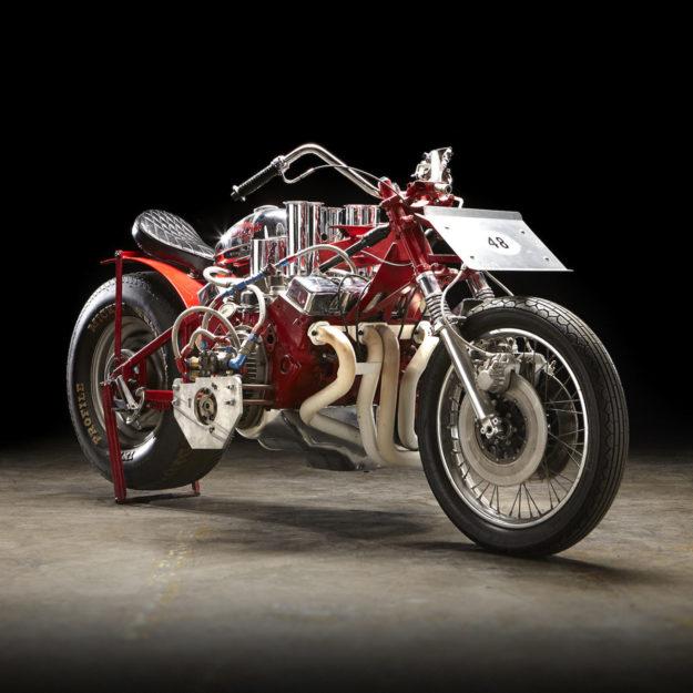 EJ Potter's V8 drag bike