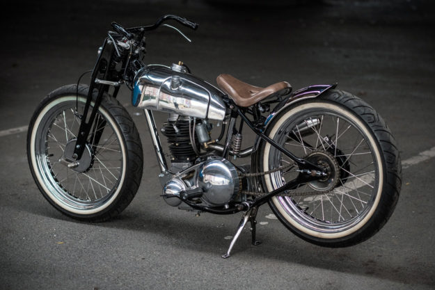This elegant custom BSA C11 was built by Tim Harney for the Brooklyn Invitational show