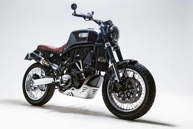 Custom KTM 950 SM by Smoked Garage of Bali