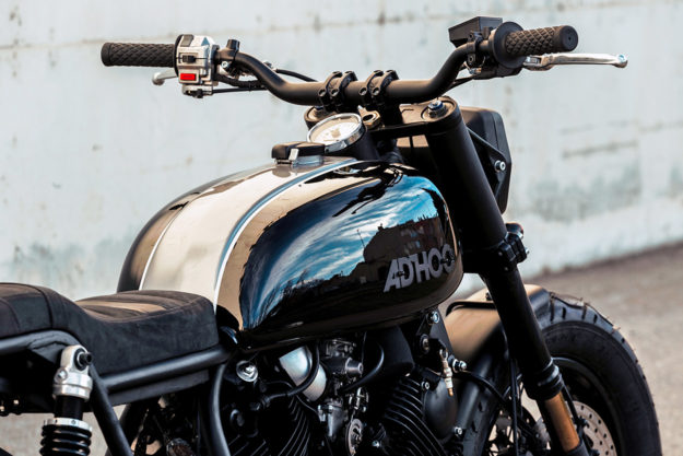 Low Tracker: A custom Yamaha Virago from Ad Hoc Cafe Racers of Spain