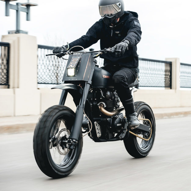 A radical Honda CB450 scrambler by Cafe Racers of Instagram