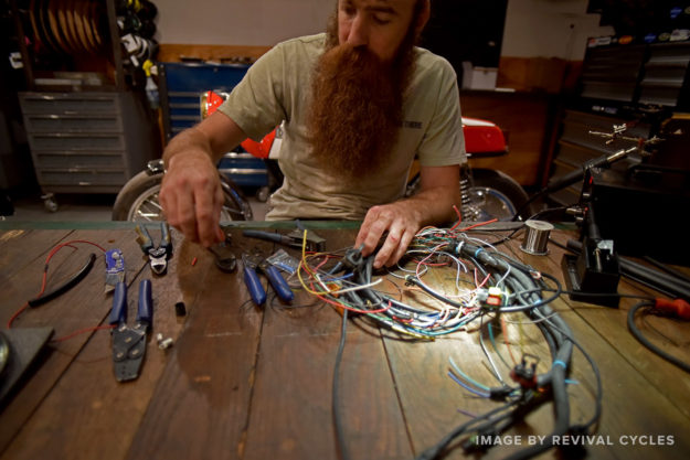 Electrical skills required for building custom motorcycles.