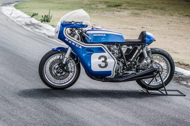 Honda CB550 race replica by Justin Steyn