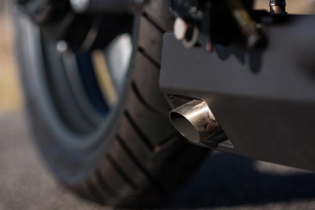 Moto Guzzi Breva 750 cafe racer by industrial designer Simon Fleetwood.