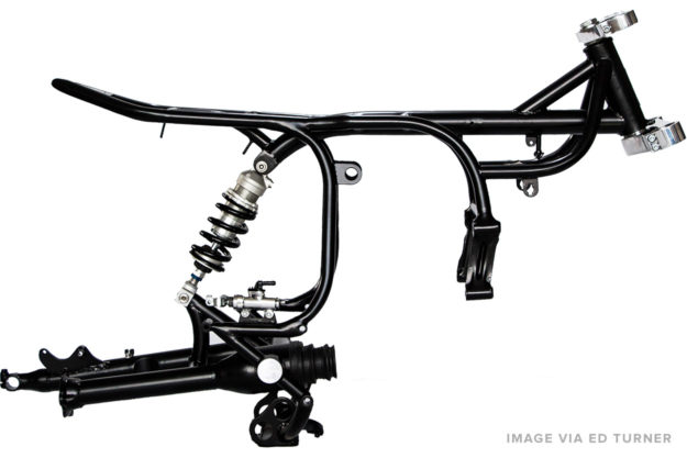 Start the design of your custom motorcycle by working around the frame