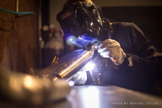 Welding skills required for building motorcycles