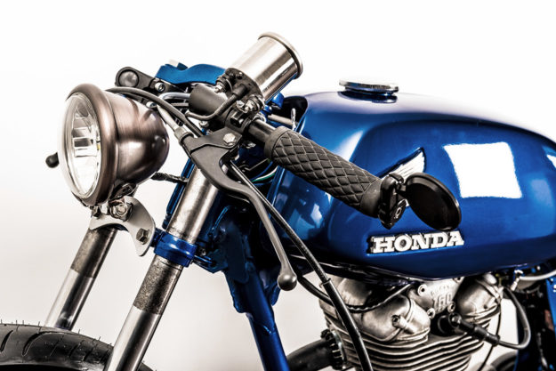 Ignore the tank badge: A delightful custom Ducati 160 Monza by Kinesis Moto