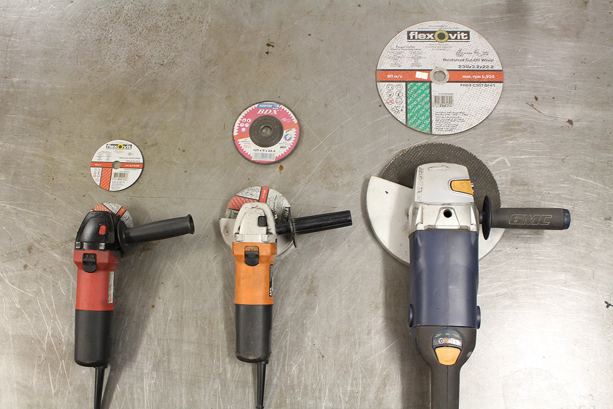 what size angle grinder