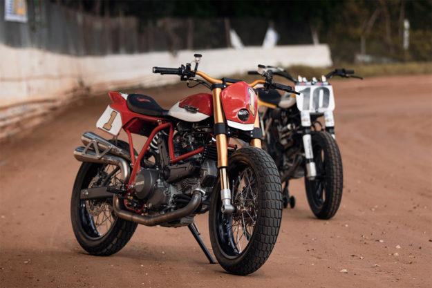 Ducati flat tracker by Fuller Moto