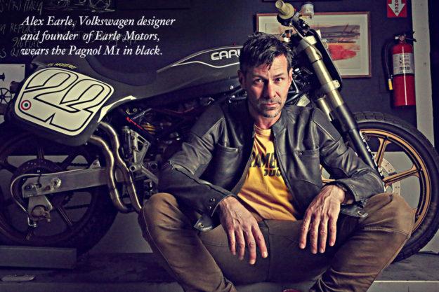 Pagnol motorcycle jacket worn by custom builder Alex Earle