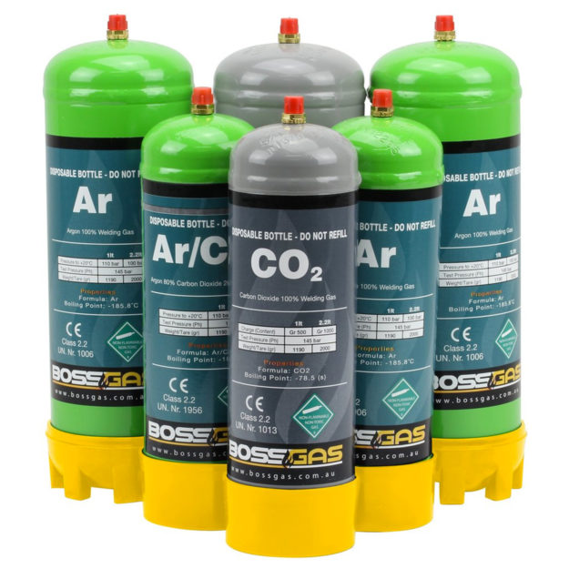 Gas bottles for welding