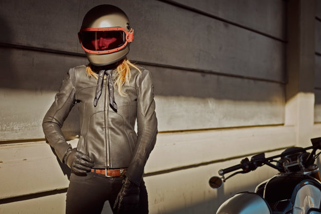 Womens motorcycle jacket by Pagnol