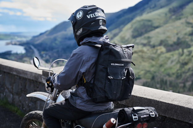 Velomacchi Roll-top Backpack for motorcyclists