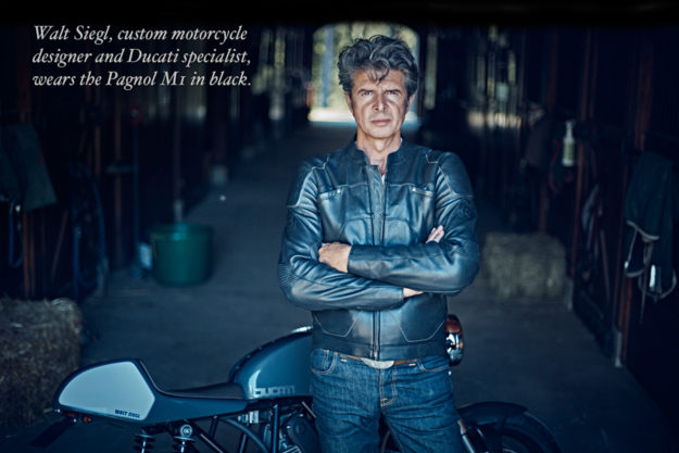 Pagnol motorcycle jacket worn by custom builder Walt Siegl