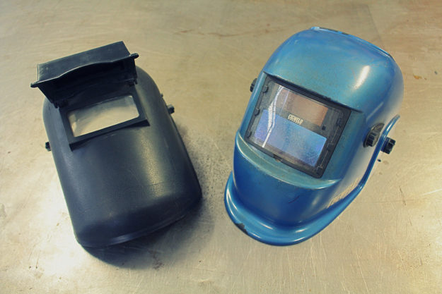 Matt MacLeod's welding helmets