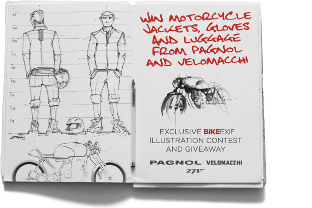 Win motorcycle jackets and backpacks for Pagnol and Velomacchi