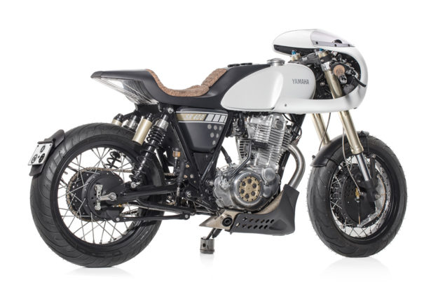 Yamaha SR400 cafe racer by Capêlos Garage and Elemental Rides