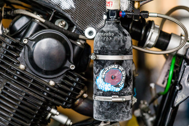 Yamaha TR1 drag bike by Schlachtwerk