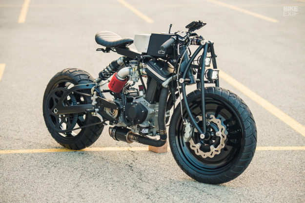 This custom Buell Blast was built inside a tiny apartment