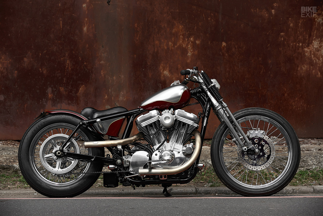 Harley-Davidson XL883 Sportster bobber by 2LOUD Custom