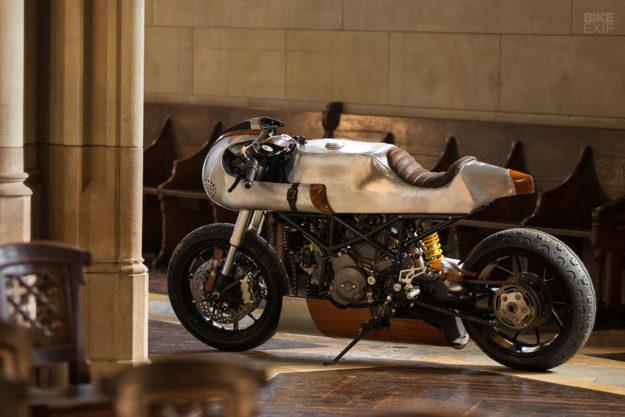 Custom Ducati Hypermotard built by Be Unique 2.22 for the Tresor Contemporary Craft fair