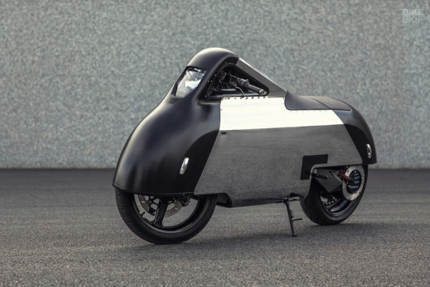Custom Vectrix electric scooter by Shiny Hammer