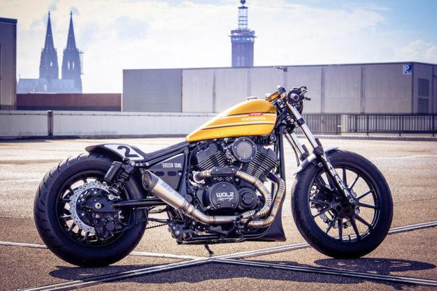 Custom Yamaha XV 950 R drag bike by Marcus Walz